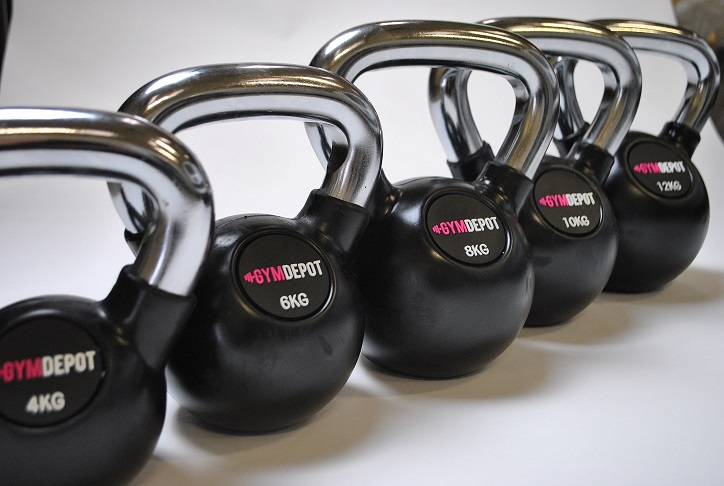 GYM DEPOT Chrome Handle Kettlebell
