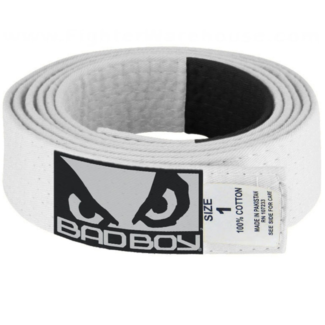 Bad Boy BJJ white Belt with Patch